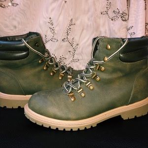 Shoes - Green Boots